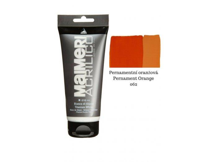 Akrylové barvy Maimeri Acrylico Pernamentní oranžová  90aee4f988