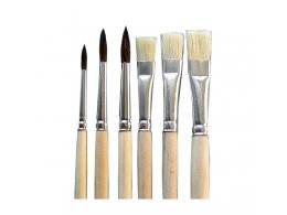 Kolibri set flat and round brushes 9/2001