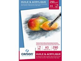 Sketchbook suitable for oil and acrylic Canson A4 (290g/m2)