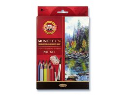 Set of aquarell coloured pencils Mondeluz 24 pcs