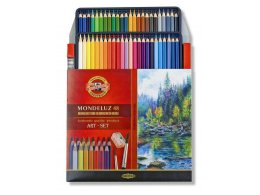 Set of aquarell coloured pencils Mondeluz 48 pcs