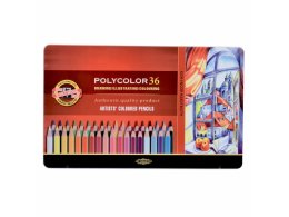 Set of artist´s coloured pencils 36 pcs